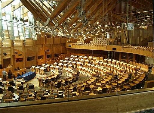 Debating chamber, Scottish Parliament (31-05-2006)