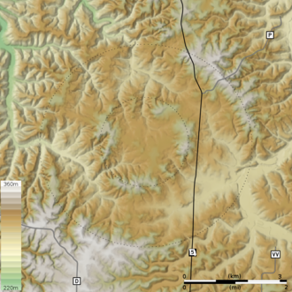Decaturville crater - The topography of the Decaturville crater is highly eroded.
