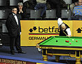 Dechawat Poomjaeng and Ingo Schmidt at Snooker German Masters (DerHexer) 2013-01-30 01.jpg