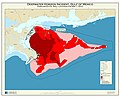 Deepwater Horizon incident, Gulf of Mexico, forecasted oil spill location for May 1, 2010 LOC 2010589162.jpg
