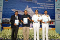 Defence Minister Manohar Parrikar releasing the Indian Naval Indigenisation Plan (INIP) at DRDO Bhawan New Delhi.jpg