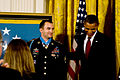 Defense.gov News Photo 101116-A-0193C-009 - President Barack Obama congratulates U.S. Army Staff Sgt. Salvatore Giunta after presenting him the Medal of Honor in the White House in.jpg