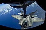 Defense.gov News Photo 120327-F-MQ656-062 - A Hawaii Air National Guard F-22 Raptor moves into position to take on fuel from a Stratotanker during a recent mission over the Pacific near the.jpg