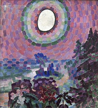 1907 in art - Image: Delaunay Paysage au disque, 1906