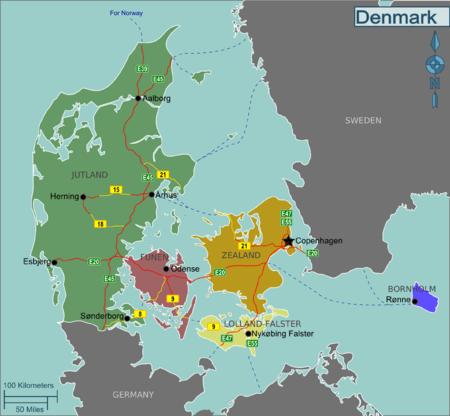 Cartina Della Danimarca.Danimarca Wikivoyage Guida Turistica Di Viaggio