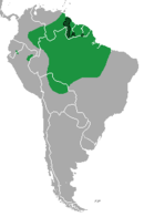 Suriname, Guyana, French Guiana, and Northern Brazil stretching over into Bolivia, Peru, Colombia, Venezuela