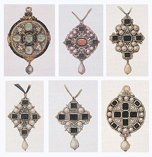 Holbeinesque jewellery - Image: Designs for Pendant Jewels by Hans Holbein the Younger