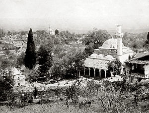 Destroyed mosque after fighting in Chataldja.jpg