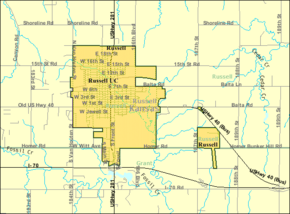 Detailed map of Russell, Kansas.png