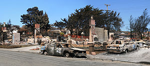 San Bruno pipeline explosion - Image: Devastation in San Bruno
