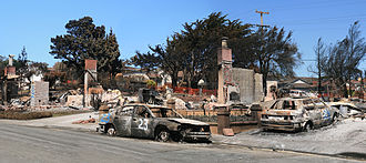 San Bruno, California - Destruction after fire and explosion in San Bruno