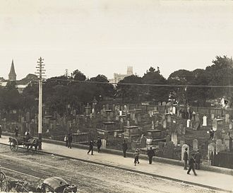 Central railway station, Sydney - Central station was built on land previously occupied by the Devonshire Street Cemetery.
