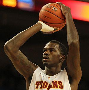 Dewayne Dedmon - Dedmon attempts a free throw for USC in January 2012