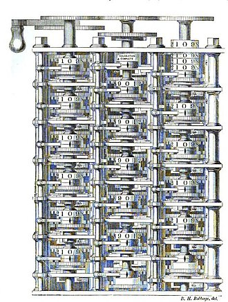 Charles Babbage - A portion of the difference engine