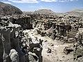 Differentially cemented & eroded sandstone (member C, Uinta Formation, Eocene; Fantasy Canyon, Utah, USA) 47 (24818227936).jpg
