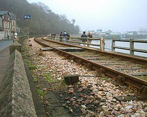 Houlgate - Houlgate sea retainer wall in spring 2005