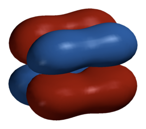Delta bond - 3D model of a boundary surface of a δ bond in Mo2