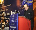 Dinesh Trivedi addressing at the All India workshop on Campaign Clean India to create awareness about hygiene and cleanliness at tourist destinations and monuments, organized by the Ministry of Tourism, in New Delhi.jpg