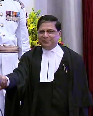 Dipak Misra - Dipak Mishra during his oath at Rashtrapati Bhavan.