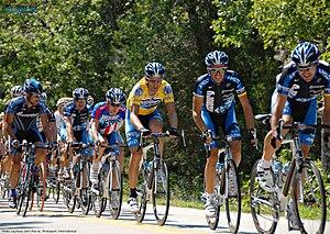 Levi Leipheimer - Leipheimer follows race leader George Hincapie in 2007 Tour of Missouri