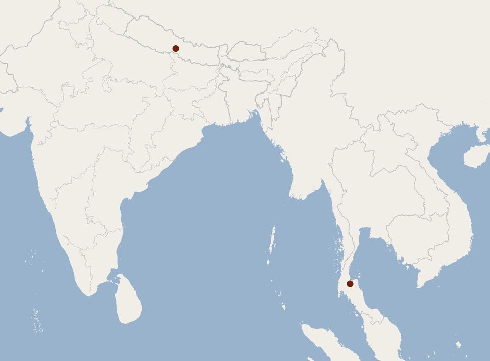 Distribution of Eptesicus dimissus