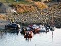Dive boats at Kimmeridge Bay - geograph.org.uk - 1632368.jpg
