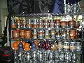 Diversidad de mates en venta en un mercado de Trenque Lauquen, Argentina.JPG