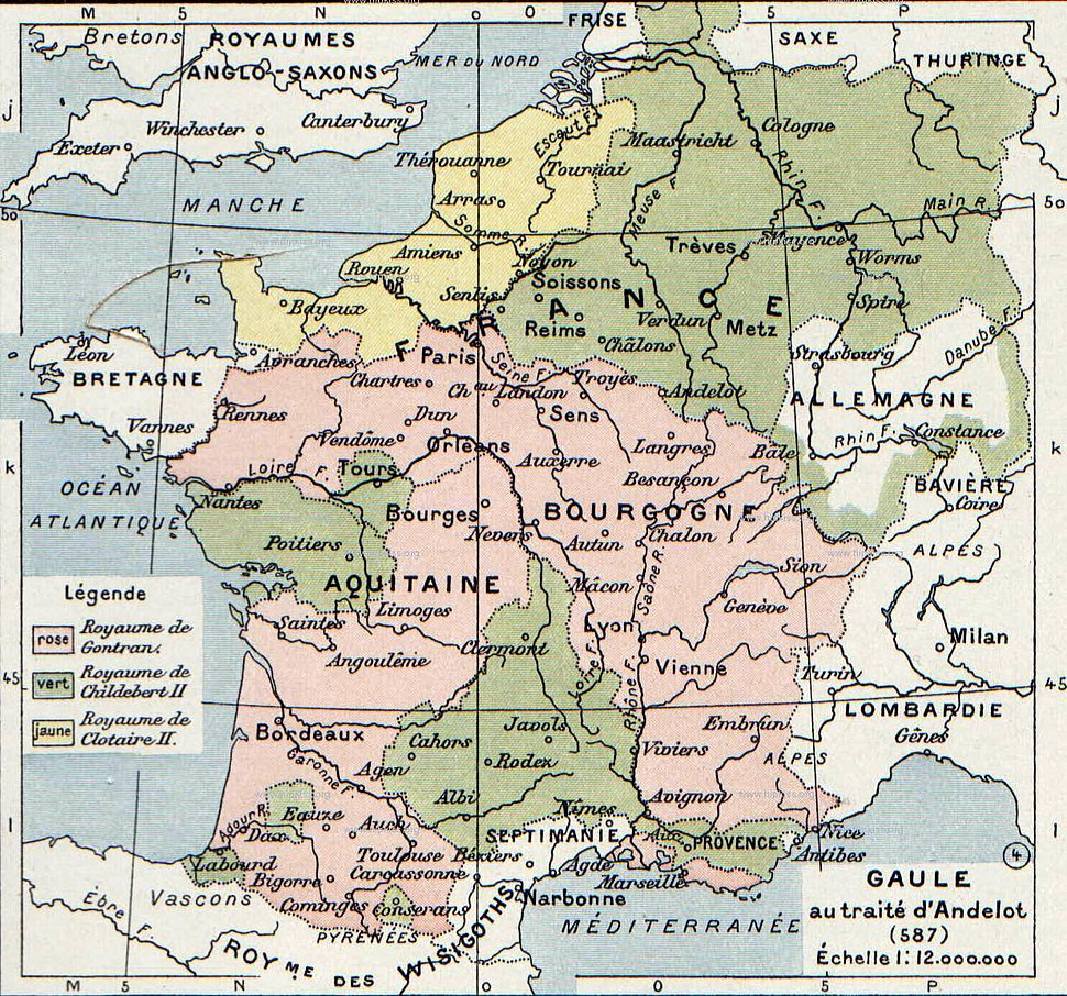 Division of Gaul - 587