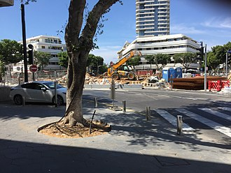 Dizengoff Square - The same spot as it stands in June 2018