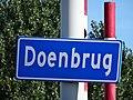 Doenbrug - Overschie - Rotterdam - Name plate (road).jpg