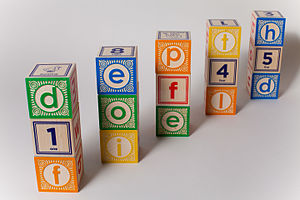 Toy block - Blocks with numbers, letters and pictures