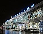 Domestic terminal of Tolmachevo Airport at night.jpg
