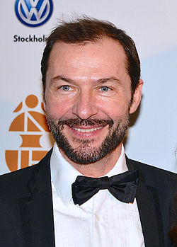 Dominik Henzel på Guldbaggegalan i januar 2013