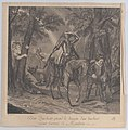 Don Quixote on horseback with a barber's bowl on his head as a hat Met DP884573.jpg