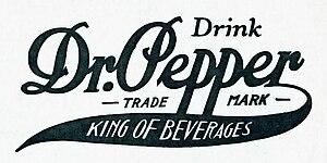 Charles T. Pepper - Dr Pepper logo (1910)