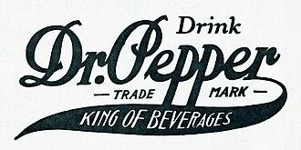 Charles Alderton - Dr. Pepper logo (1910)