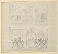 "Drawing, Two Figure Compositions for the Painting ""Lady Washington's Reception"", 1860 (CH 18565929).jpg"
