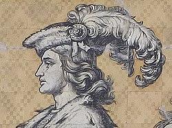 Dresden Fürstenzug 084 (cropped) - Frederick II, Margrave of Meissen.JPG