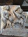 Drummer and the dancer of Hoysaleshwara temple, Halebid, KA, India.jpg