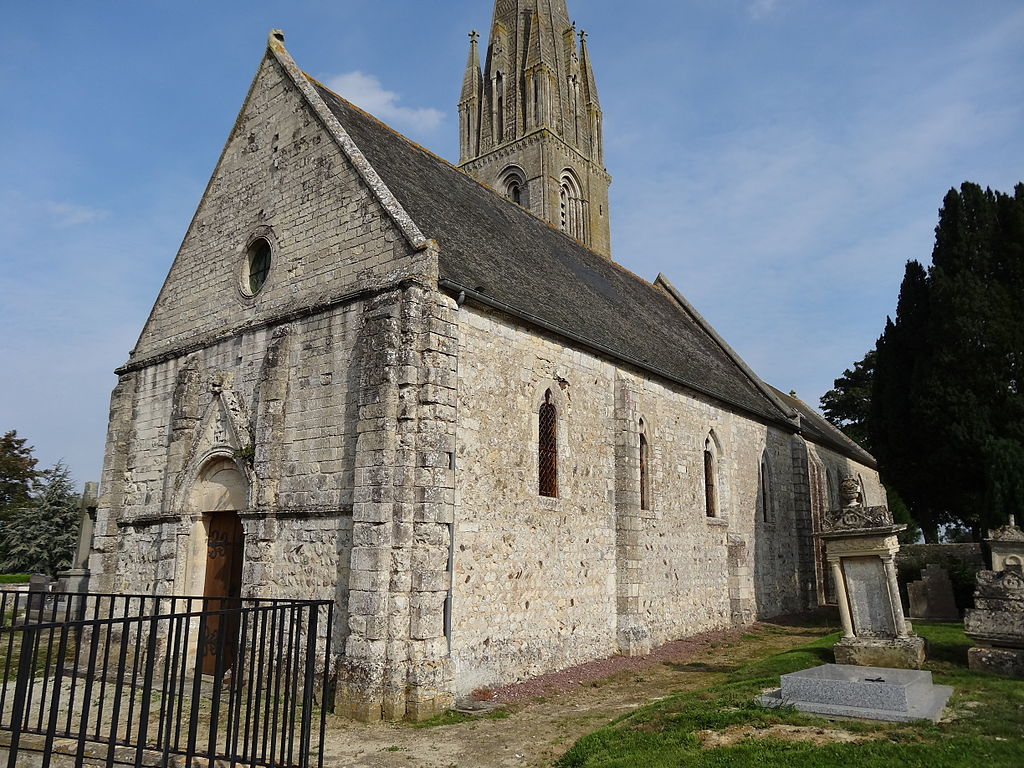 Ducy-Ste-Marguerite (14) l'église vue du sud-ouest.JPG
