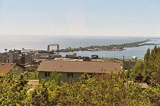 Minnesota Point Neighborhood in Duluth, Minnesota, United States of America
