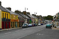 A view of Dunfanaghy main street.