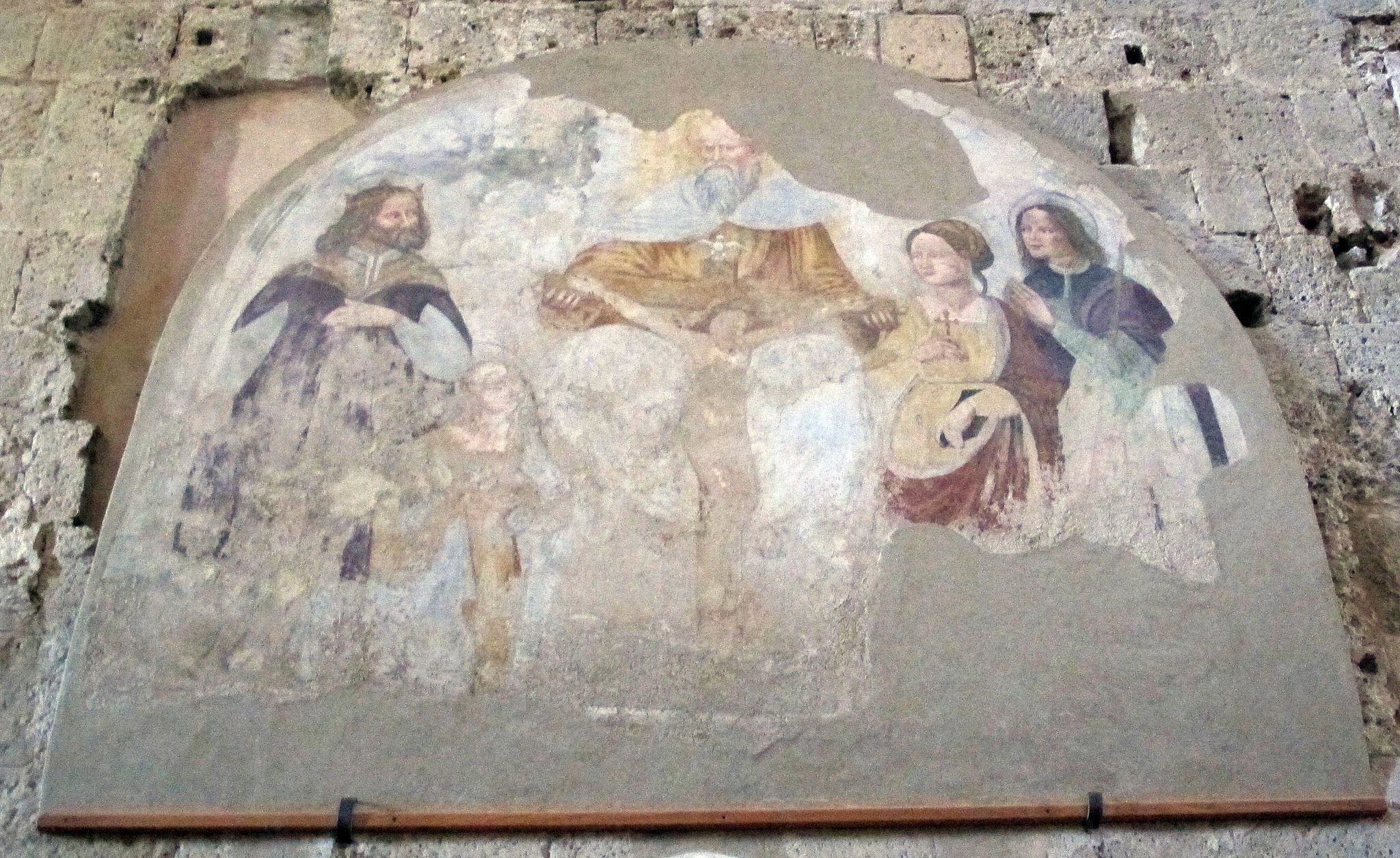 Il Duomo di Sovana, affresco