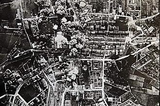 Bombing of Durango - Photo of the bombing taken by an Italian pilot.