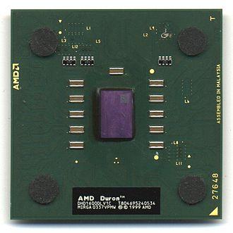 "Duron - ""Applebred"" Duron, ""A""-model, 1.6GHz."