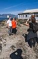 Dutch Wikimedians photographing other Dutch Wikimedians on Robben Island.jpg