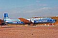 EC-ATR 2 DC-7C Seven Seas (ex) Spantax San Agustin GC FEB85 (12476719974).jpg