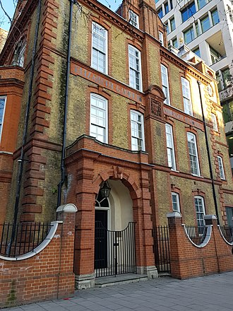Elizabeth Garrett Anderson and Obstetric Hospital - Photograph showing the former New Hospital for Women, Euston Road, London, in 2018. Now occupied by Unison