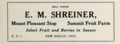 E M Shreiner - Mount Pleasant Stop - Summit Fruit Farm - Select fruit and berries in season - New Berlin Ohio 1915.tiff