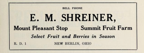 File:E M Shreiner - Mount Pleasant Stop - Summit Fruit Farm - Select fruit and berries in season - New Berlin Ohio 1915.tiff